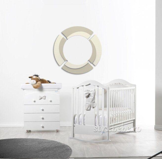 Patut bebelusi Fiocco alb