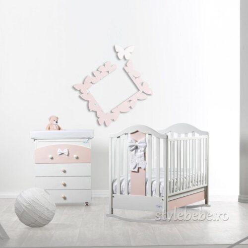 Camera bebelusi Fiocco alb/roz