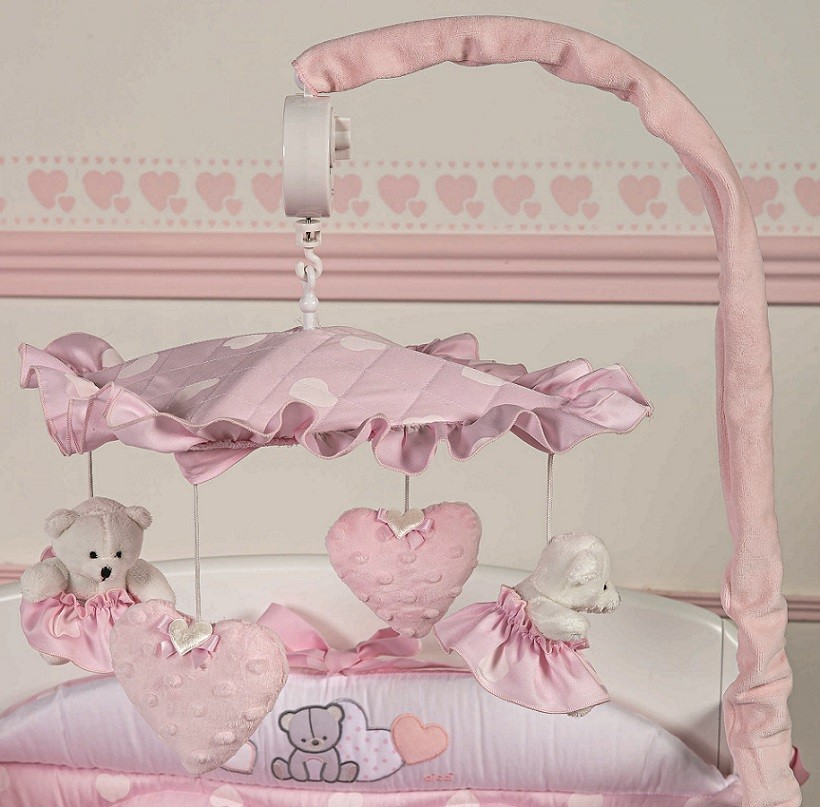 Carusel muzical Amelie roz
