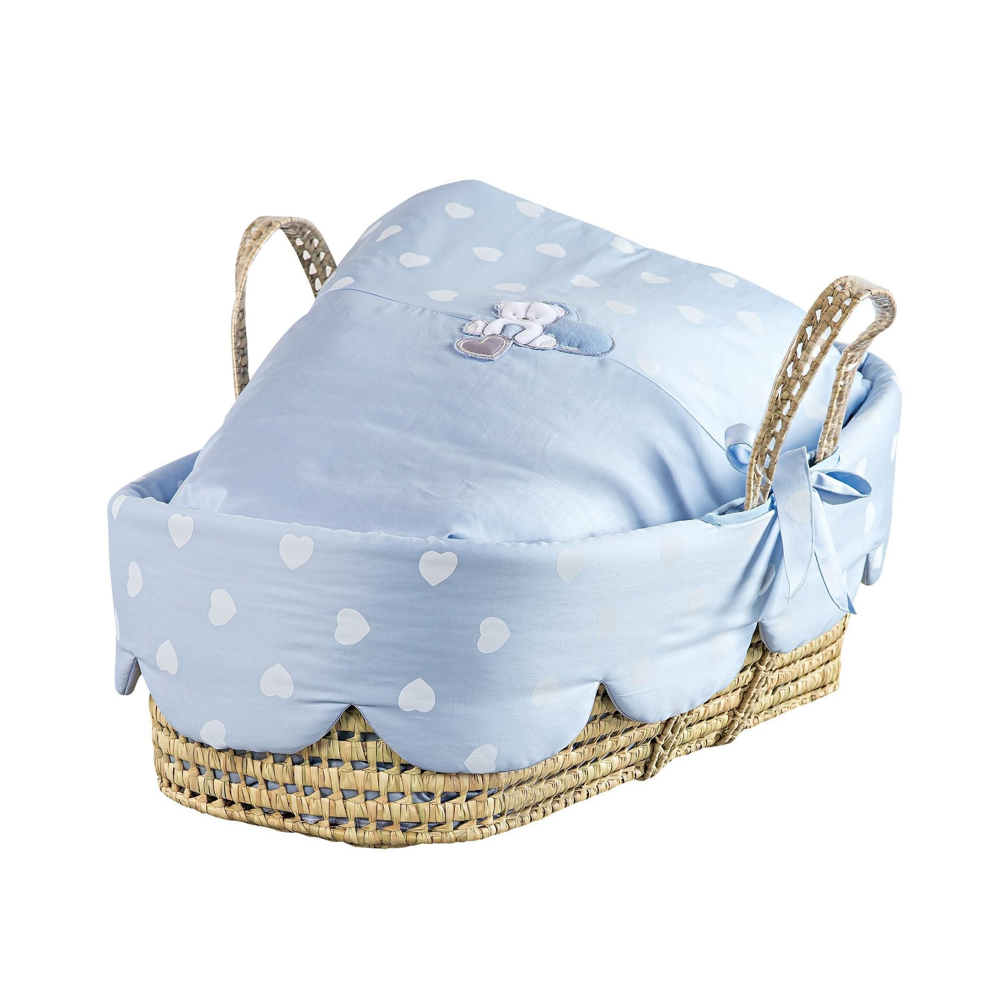 Cos bebelusi Amelie bleu deschis