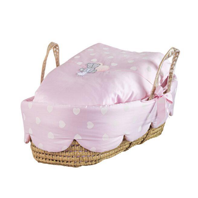 Cos bebelusi Amelie roz