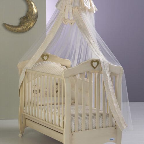 Patut Bebelusi  Emily  lemn ivory antichizat
