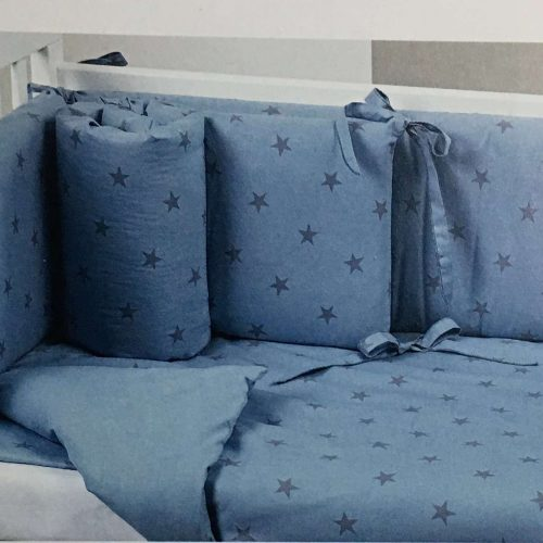 Lenjerie Stella bleu pentru patut Lella