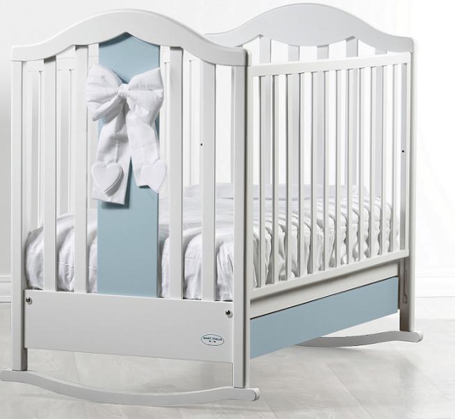 Patut bebelusi Fiocco alb/albastru