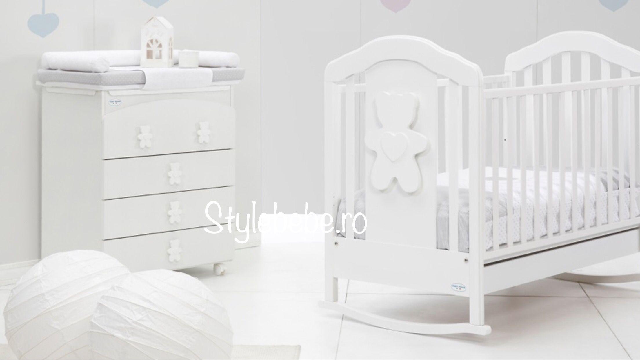 Patut bebelusi Coccolo soft alb balansoar