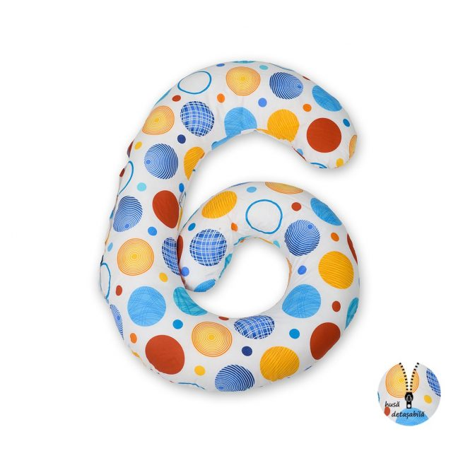 Perna multifunctionala Cerculete  Colorate