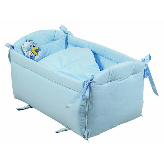 Reductor bleu cu jucarie patut bebe
