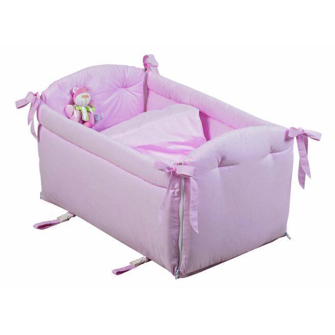 Reductor roz cu jucarie patut bebe